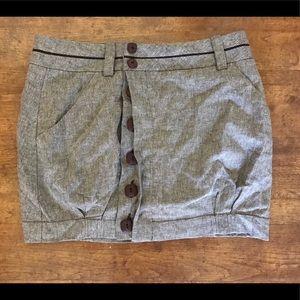 BCBG tweed button down skirt